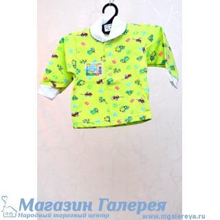 Зелёная кофта для новорожденного - Яник
