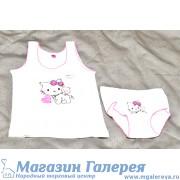 Набор трусы и майка с кошками для девочки