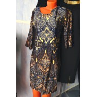 Лёгкое платье с рисунком гжель