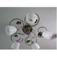 Люстра для зала на пять плафонов 0010/5 с обычными лампами Е27