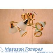 Люстра 5705/5 gd с обычными лампами Е27 золото