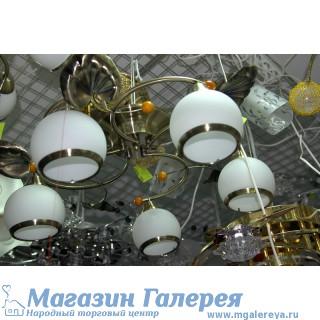 Люстра на пять рожков 0648W 5BCU WT  с обычными лампами Е27