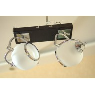 Светильник потолочный два плафона 11660/2 CR WT  цвет венге