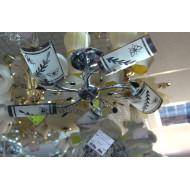 Модная люстра для зала с пятью лампами. Модель 1217/5.