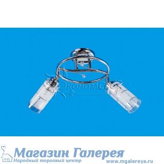 Недорогая люстра для кухни 3389/2CR WT с двумя рожками