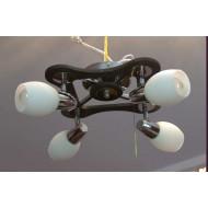Люстра 35822/4 cr wenge люстра с обычными лампами Е27 хром венге