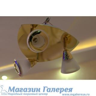 Люстра спот с поворотными лампами 640/3 MS C+W GD-WT