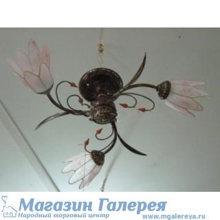 Люстра 6765/3 состаренный металл с обычными лампами Е27