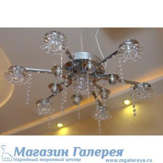 Потолочная люстра на 7 ламп с пультом, Модель 6796/7