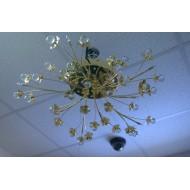 Люстра 80315/10  галогенные лампы золото с пультом