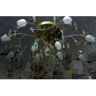 Люстра c 12-ю галогенными лампами золотая 8224/12+1 с пультом