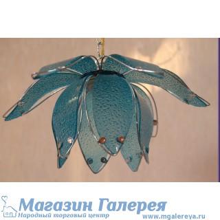 Люстра для кухни голубая.  Модель 8300/1