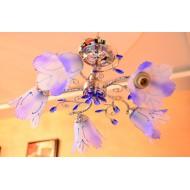 Голубая люстра с пятью лампами. Модель 8700/5 bl.