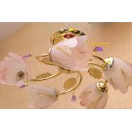 Фиолетовая люстра с пятью рожками 910/5