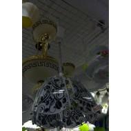 Эконом люстра 9122/1  с обычными лампами.