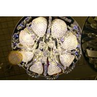 Люстра c галогенными лампами для зала. Круглая. С пультом. Модель  9652/10