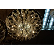 Люстра с пультом 9955/8+2 на 10 ламп со светодиодами.