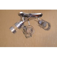 Люстра с тремя поворотными плафонами стаканчиками.  9981 IH 3