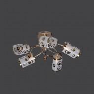 Люстра 0926/5 gd с обычными лампами Е27 золото