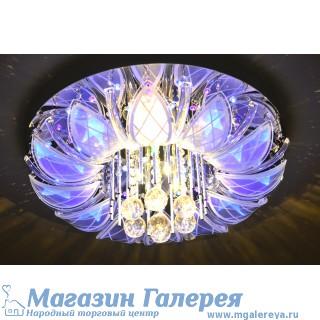 Люстра 8916/10  галогенные лампы хром с пультом