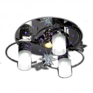 Люстра под венге с дистанционным управлением. Модель 8053/3+1