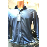 Синяя мужская рубашка 42 размер