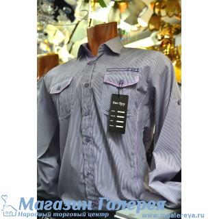 Рубашка мужская 40 размер в полоску