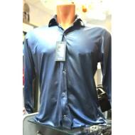 Синяя мужская рубашка 40 размер