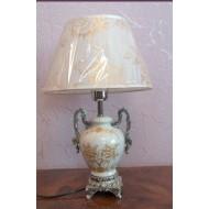 Лампа настольная керамическая. TopLight. Белая.  408 ВК YT