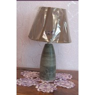 Лампа настольная керамическая. TopLight. Серая с абажуром.  8212 МТ