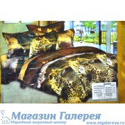 Двуспальный комплект 3d постельного белья с леопардом