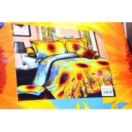 3d постельное бельё с подсолнухами