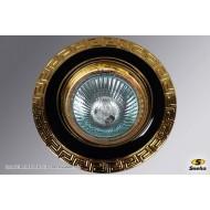 Точечный светильник 1021/E1 MR16 BK+GD