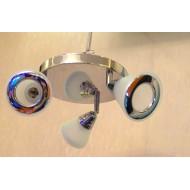 Люстра спот с поворотными лампами 640/3 P MS CR WT