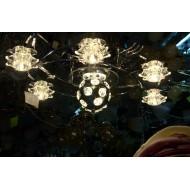 Люстра 8033/6+2 хром с вращающимся шаром
