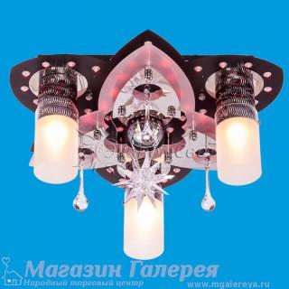 8285/3+1 ВК+CR LED mix люстра