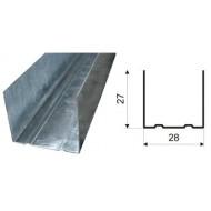 Профиль Направляющий  ПНП 28 X 27 X 3 М (0,45 ММ)