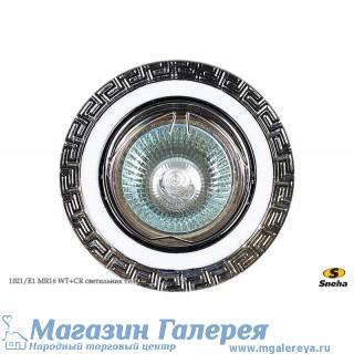 Точечный светильник 1021/E1 MR16 WT+CR