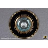 Точечный светильник 1025/E1 MR16 BK+GD